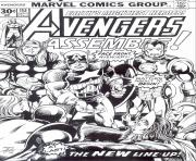 Coloriage avengers marvel comics cover