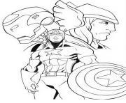 les trois avengers dessin à colorier