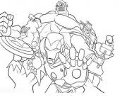 Coloriage avengers equipe