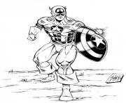 Coloriage avengers 136