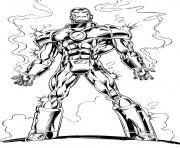 avengers iron man en feu dessin à colorier