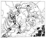 avengers thor vs hulk dessin à colorier