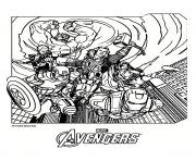 Coloriage avengers 4