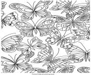 Coloriage adulte papillons nature antistress