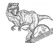 Coloriage jurassic park officiel