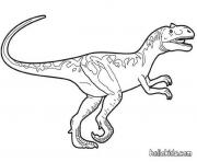 Coloriage world raptor dinosaure