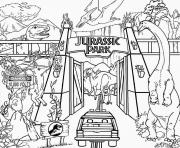 Coloriage jurassic park lego world