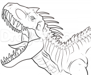 Coloriage jurassic world raptor dessin