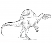 spinosaurus dessin à colorier