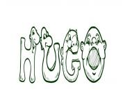 coloriage hugo