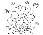 fleur maternelle dessin à colorier