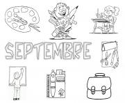 Coloriage rentree maternelle septembre