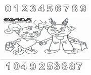 rentree maternelle chiffres nombres dessin à colorier