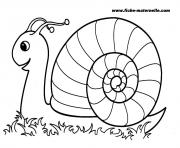 Coloriage rentree maternelle escargot