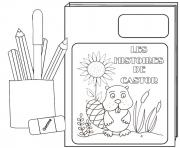 Coloriage rentree maternelle livre crayons