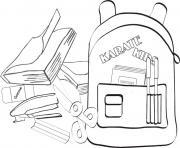 rentree maternelle livre sacados dessin à colorier