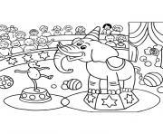 cirque maternelle dessin à colorier