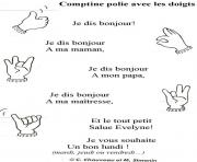 Coloriage rentree maternelle comptine polie
