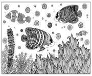 Coloriage zentangle poisson par artnataliia  dessin