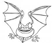 Coloriage contour d une chauve souris dessin