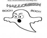 halloween fantome boo boo dessin à colorier