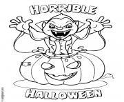 vampire citrouille halloween dessin à colorier