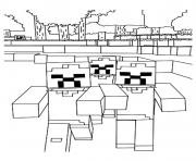 Coloriage enderman building a house dessin