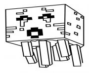 Coloriage minecraft Ghast