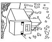 Coloriage steeve minecraft dessin