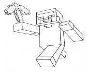 Coloriage minecraft Steve