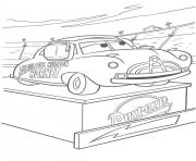 Coloriage flash mcqueen cars podium