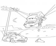 flash mcqueen cars suspendu dessin à colorier