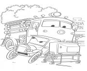 Coloriage flash mcqueen devant la tv