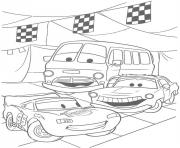 Coloriage flash mcqueen flash fillmore et sally