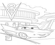 Coloriage flash mcqueen flo