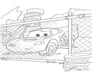 Coloriage flash mcqueen devant les grillages