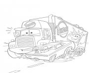Coloriage flash mcqueen mack