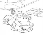 Coloriage flash mcqueen martin roule
