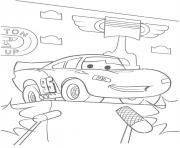 Coloriage flash mcqueen flash champion