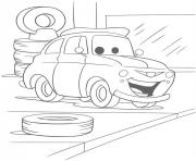 Coloriage flash mcqueen un petit sourir
