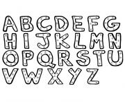 alphabet complet entier a4 maternelle dessin à colorier