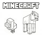Coloriage animaux minecraft