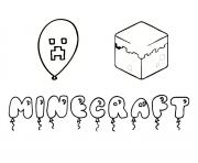 Coloriage decors minecraft dessin