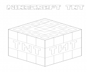 Coloriage minecraft tnt