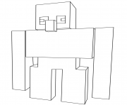 Coloriage minecraft iron golem