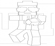 Coloriage minecraft chateau dessin