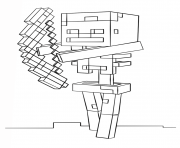 Coloriage minecraft skeleton with bow