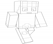 Coloriage minecraft dantdm