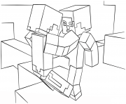 Coloriage love minecraft dessin