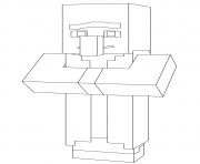 Coloriage minecraft villager